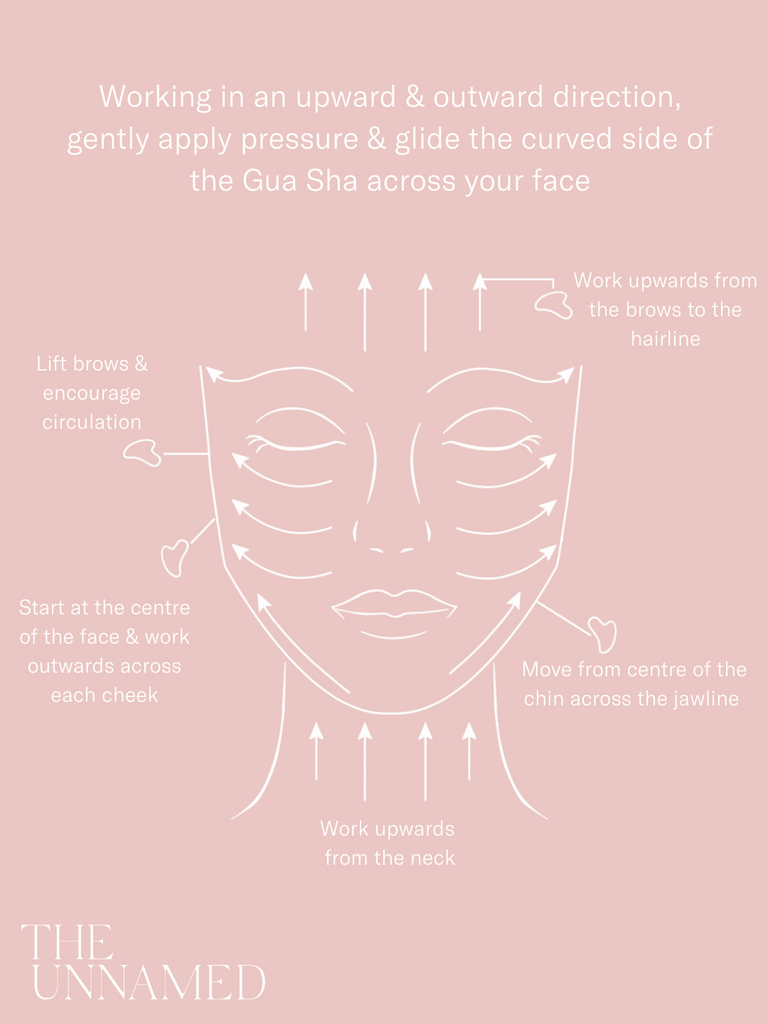 The Unnamed Skincare Gua Sha Instructions