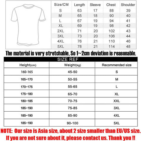 Maikong Black Color Men Compression Short Sleeve Crew neck Fitness Tight T Shirts Tops Men's Summer tee shirt Big yards 3XL