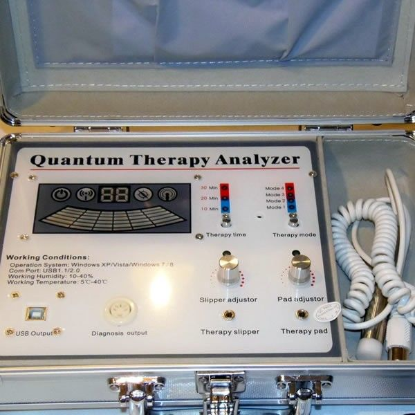 quantum resonance magnetic analyzer with therapy machine