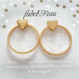Ohrstecker ~ Herzring ~ in Gold