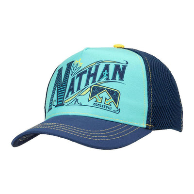 Nathan Runnable Sailor Blue Brew Trucker Hat - Left Angle Shot
