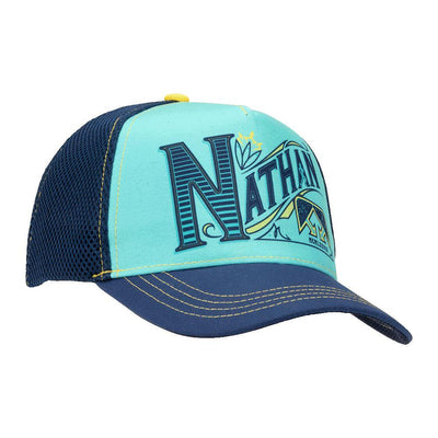 Nathan Runnable Sailor Blue Brew Trucker Hat - Right Angle Shot
