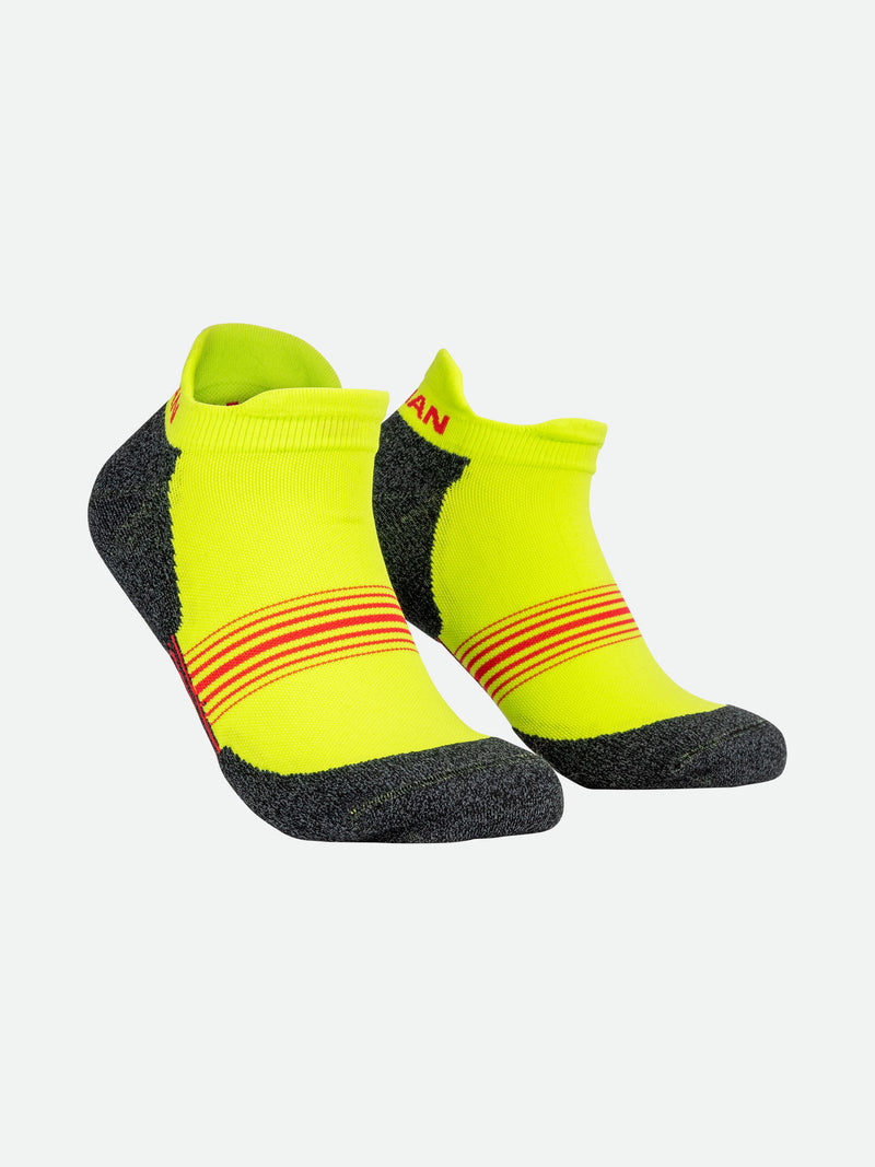 Finish Lime Stripes Low-Cut Running Socks