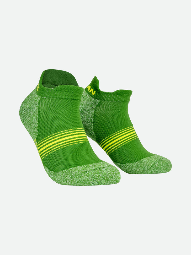 Olive Stripes Low-Cut Running Socks