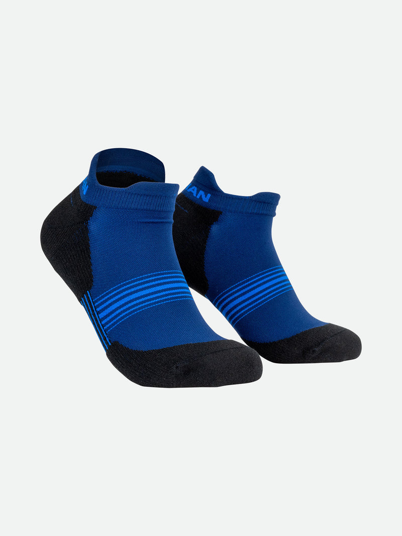 Navy Stripes Low-Cut Running Socks