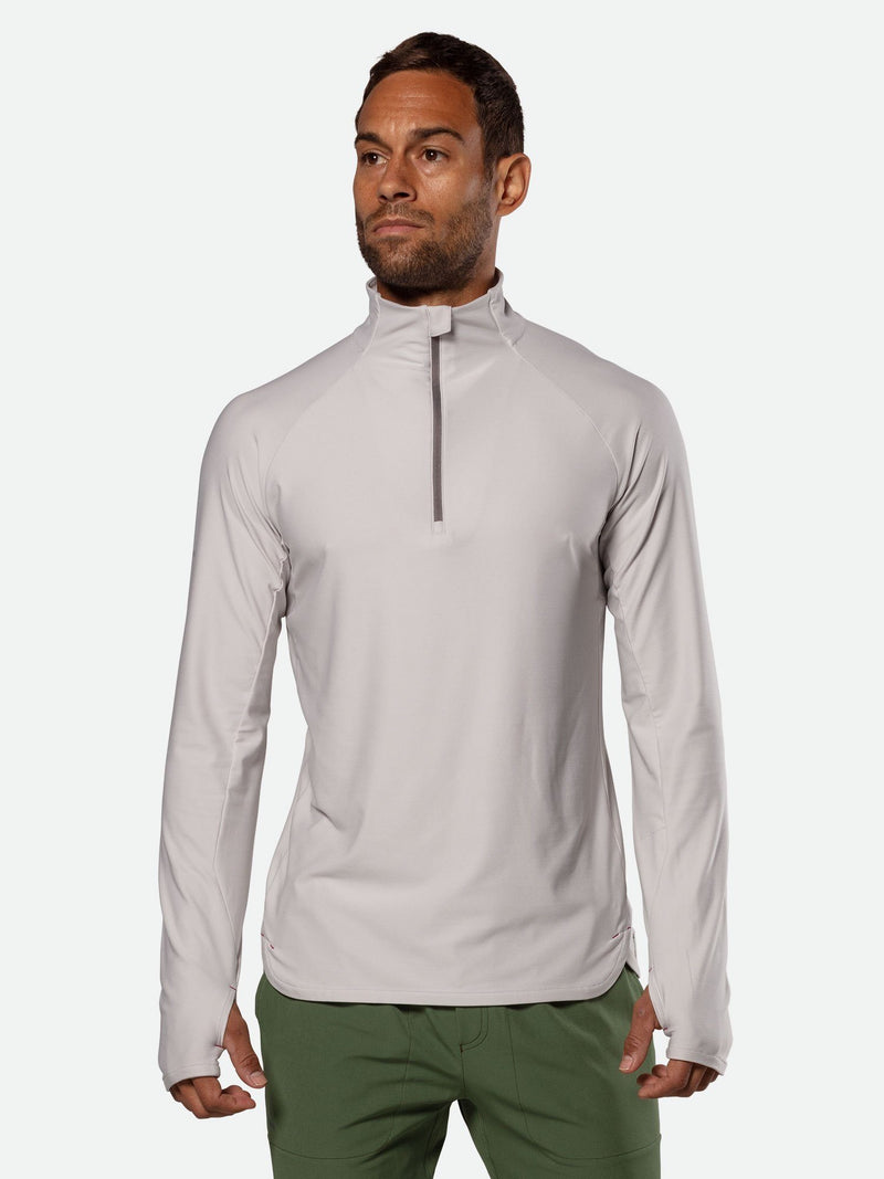 Men's Tempo Quarter Zip Long Sleeve Shirt