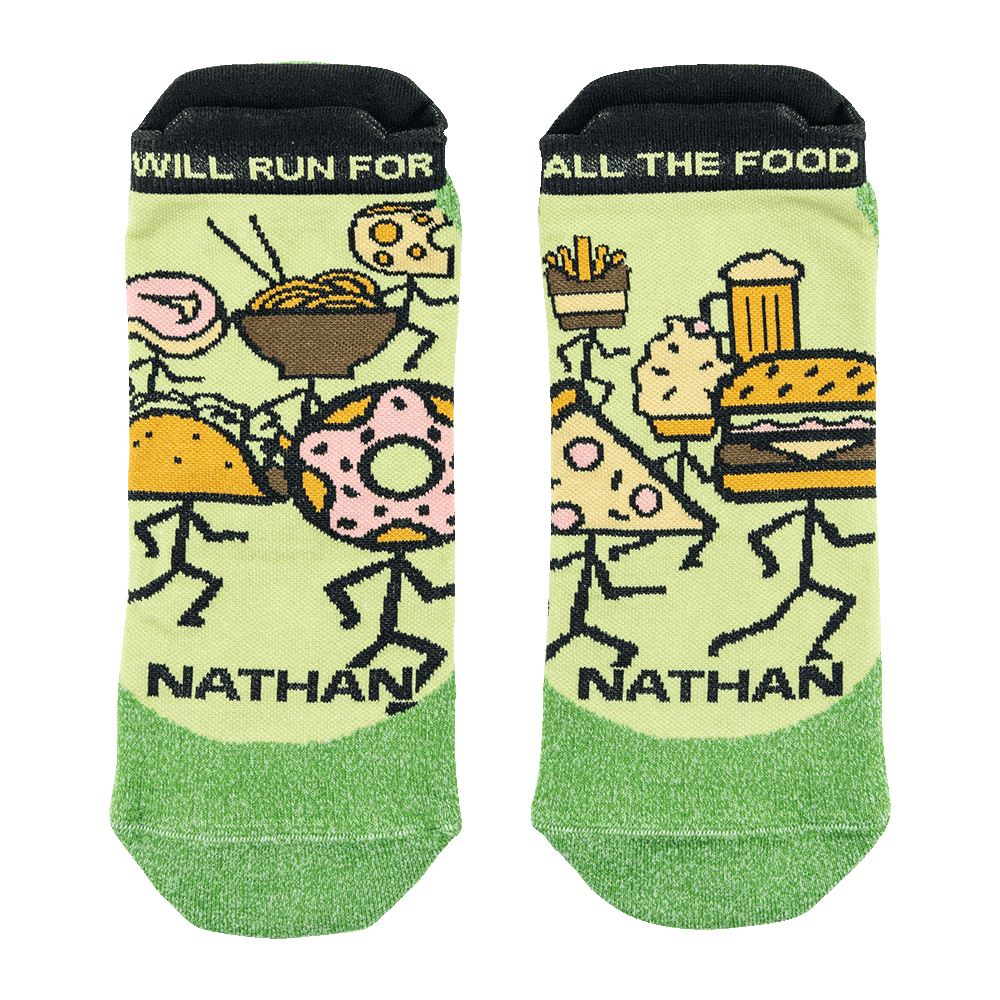 Will Run for Food! Low-Cut Running Socks