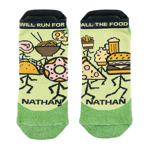 Performance Will Run for Food! Low-Cut Run Socks