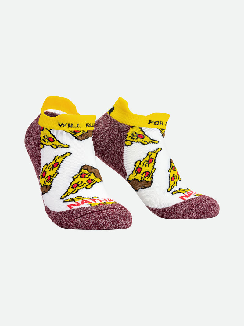 Will Run For Pizza Low-Cut Running Socks