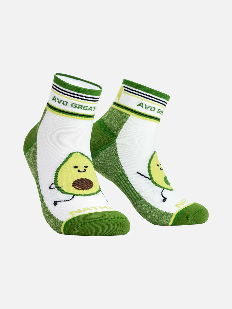 Avocado Run Quarter Running Socks