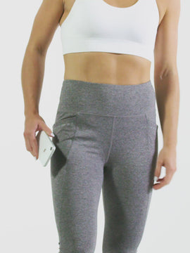 Nathan Sports Women's Infinite Leggings - Grey - Product Video