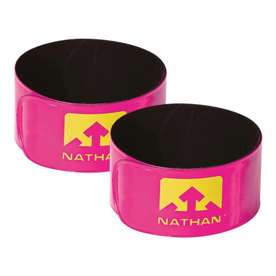Reflex Reflective Snap Bands 2-Pack Safety Nathan Hi-Viz Pink