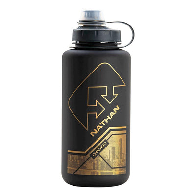 BigShot City Collection 1 Liter Hydration Bottle Hydration Nathan Chicago Black-Gold