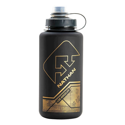 BigShot City Collection 1 Liter Hydration Bottle Hydration Nathan Los Angeles Black-Gold