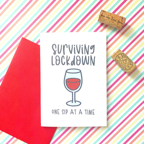 Surviving Lockdown - Splendid Greetings - Funny Greeting Cards