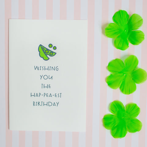 Wishing You the Hap-pea-est Birthday - Splendid Greetings - Funny Greeting Cards