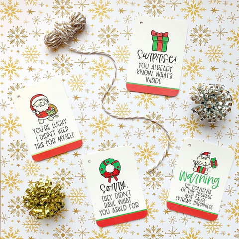 Cutie Cats Holiday Gift Tag Set