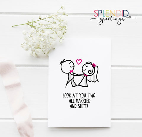 Look at You Two - Splendid Greetings - Funny Greeting Cards
