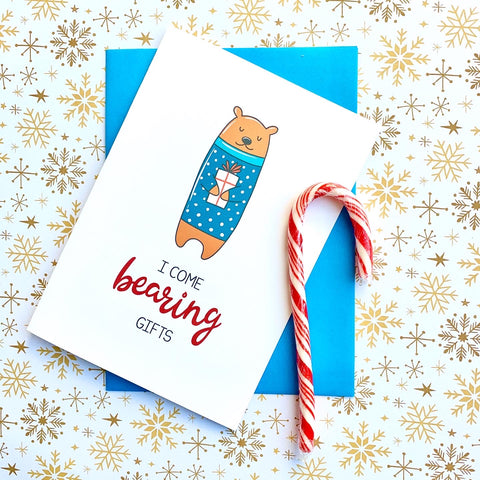 I Come Bearing Gifts - Splendid Greetings - Funny Greeting Cards