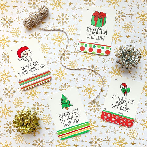 Cheeky Holiday Gift Tags Set