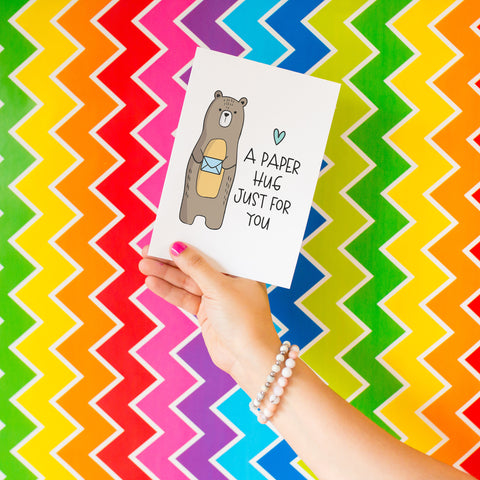 A Paper Hug - Splendid Greetings - Funny Greeting Cards