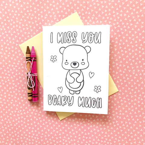 I Miss You DIY Mini Card - Splendid Greetings - Funny Greeting Cards