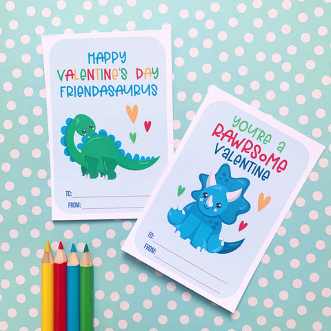 Dinosaur Class Set Valentines - Splendid Greetings - Funny Greeting Cards