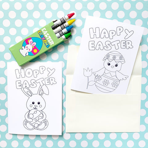 Easter DIY Colouring Card Set - Splendid Greetings