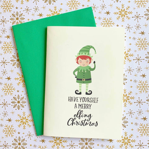 Merry Elfing Christmas - Splendid Greetings - Funny Greeting Cards