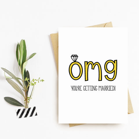 OMG You're Getting Married - Splendid Greetings