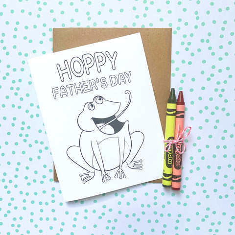 Hoppy Father's Day DIY Mini Card - Splendid Greetings - Funny Greeting Cards