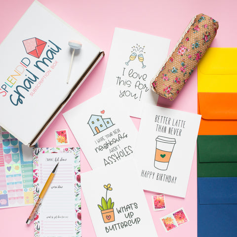Snail Mail Subscription Box - Splendid Greetings