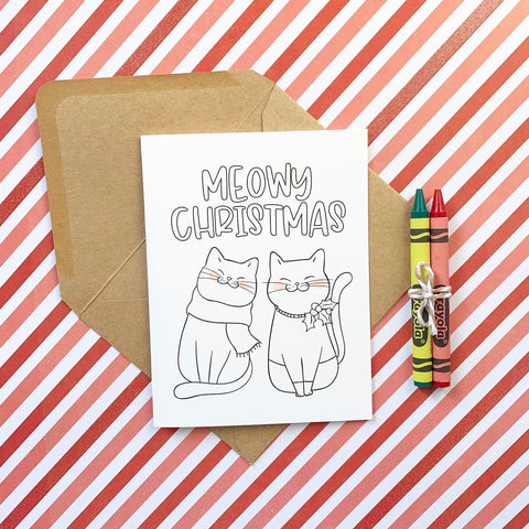 Meowy Christmas DIY Mini Card