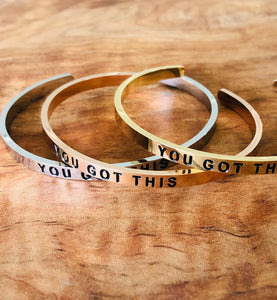 You Got This Stainless Steel Cuff Bracelet
