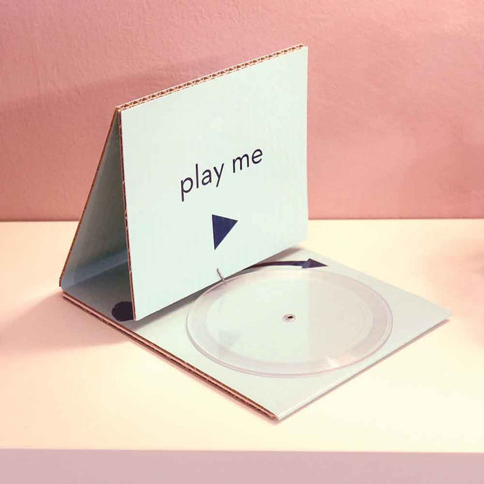 Record Playing Card with Clear Vinyl