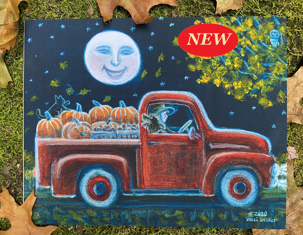 """Pumpkin Truck"" 8x10 and 5x7"