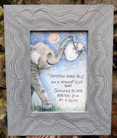 Elephant with Bundle of Joy -Birth Certificate