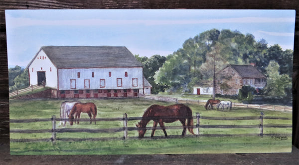 Grazing on the Farm  7x14