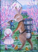 Easter Bunny in the Orchards