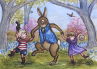 Dancing with Easter Bunny