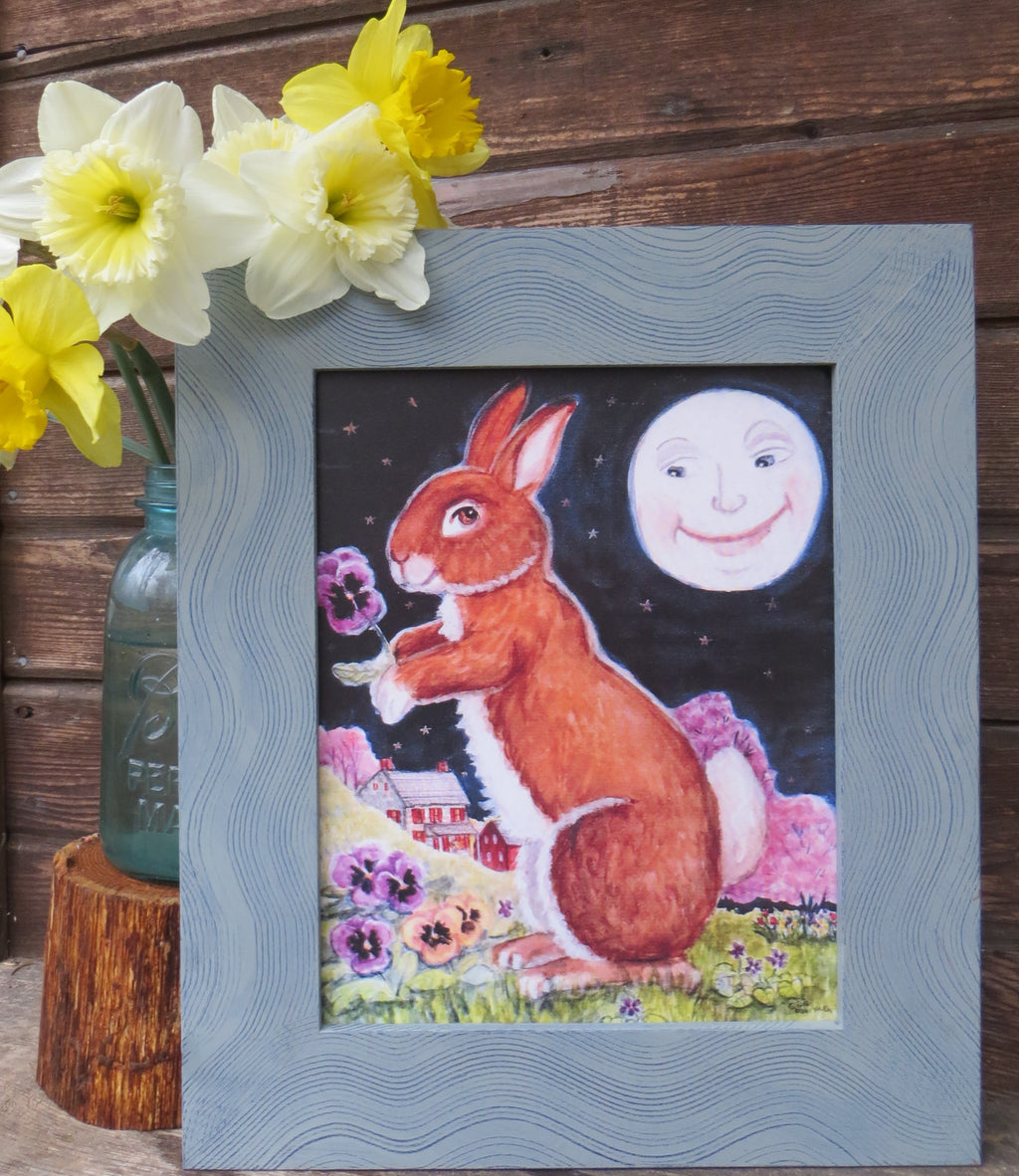 Bunny With Pansies