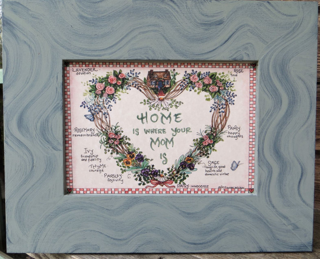 Home Is Where Your Mom Is, Mother's Day Gift, Watercolor Print