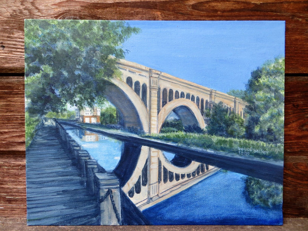 The Manayunk Bridge Original Acrylic Painting on Canvas
