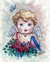 """Cupid with Bluebird"""