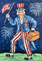 "Uncle Sam with Flag - Print 5""x7"""