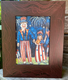 "Uncle Sam and Miss Liberty - Print 5""x7"""