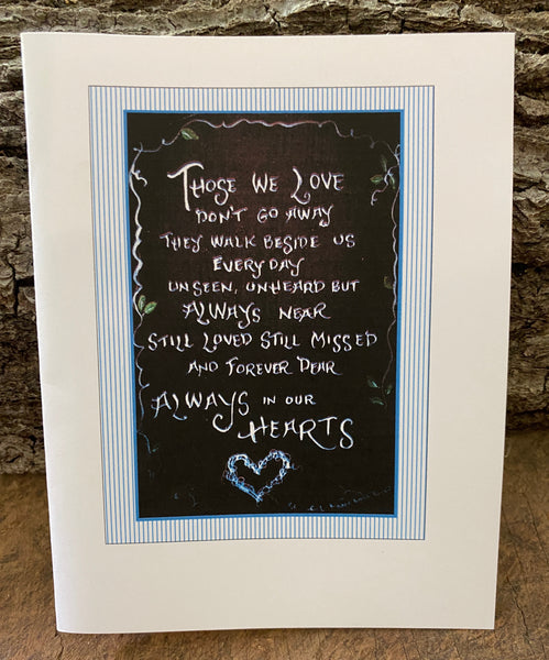 Those We Love Don't Go Away - Card