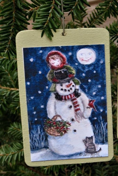 "Christmas Tree Ornaments - Wooden Small - 2"" x 3"""