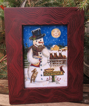 Snowman Painting Holiday Decor, Hanover Pennsylvania Winter Art Holiday Print from Original