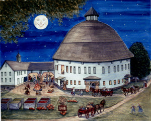 Fall Autumn Painting, fall decor, Round Barn, Festival, Pumpkins, Gettysburg, Barns, Apples